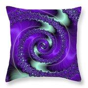 Purple Vortex Throw Pillow