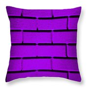 Purple Wall Throw Pillow