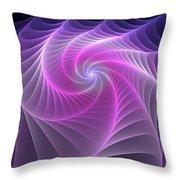 Purple Web Throw Pillow