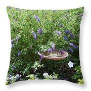 Purple Wild Flowers 1 Throw Pillow