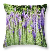 Purple Wild Flowers 2 Throw Pillow