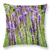 Purple Wild Flowers3 Throw Pillow