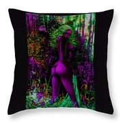 Purple Wood Nymph Throw Pillow