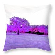 Purple World Throw Pillow