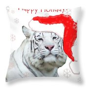 Purrfect Holiday Throw Pillow