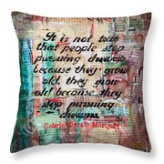 Pursuing Dreams Throw Pillow