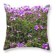 Puryple Throw Pillow