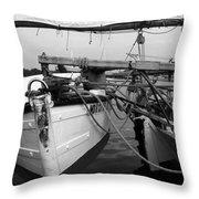 Push Boat Throw Pillow