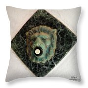 Push My Button Throw Pillow
