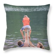 Push Your Child To Achieve Throw Pillow