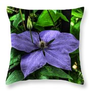 Pushing Through Throw Pillow