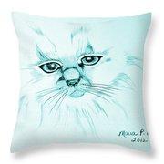 Pussycat Blues Throw Pillow