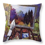 Put Color In Your Life Throw Pillow