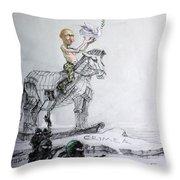 Putin's Surprising Crimea Visit Throw Pillow