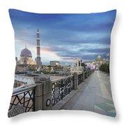 Putra Mosque At Sunset Throw Pillow