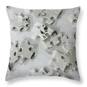 Putting Puzzle Pieces Together Throw Pillow