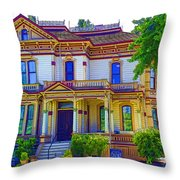Puyallup Mansion In Washington State Throw Pillow