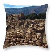 Puye Reservation Mesa Throw Pillow