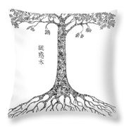 Puzzle Tree Throw Pillow