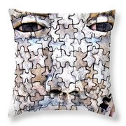 Puzzled Man No2 Throw Pillow