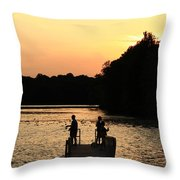 Pymatuning Silhouette Throw Pillow