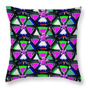Pyramid Dome Triangle Purple Elegant Digital Graphic Signature   Art  Navinjoshi  Artist Created Ima Throw Pillow