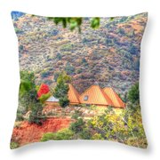Pyramid Houses In Fall Throw Pillow