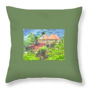 Pyramid Houses In Spring II Throw Pillow