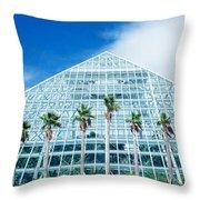 Pyramid, Moody Gardens, Galveston Throw Pillow