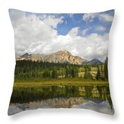 Pyramid Mountain And Cottonwood Slough Throw Pillow