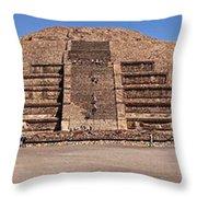Pyramid Of The Moon Panorama Throw Pillow