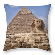 Pyramids And Sphinx In Egypt Throw Pillow