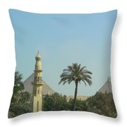 Pyramids And The Minaret Throw Pillow