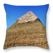 Pyramids Of Giza 15 Throw Pillow by Antony McAulay