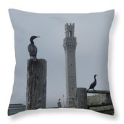Pyrates On The Dock Throw Pillow