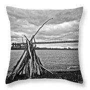 Pyre At The Bridge Throw Pillow