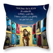 The New Learning Temple With Pythia Throw Pillow