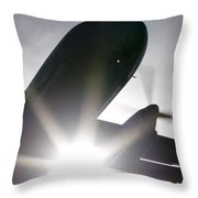 Q400 Silhouette Throw Pillow