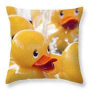 Quackers Throw Pillow