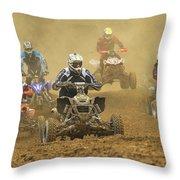 Quad Race Throw Pillow