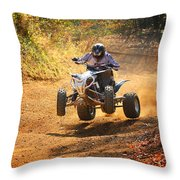 Quad Rider  Throw Pillow