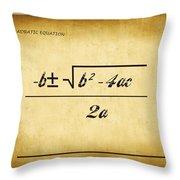 Quadratic Equation - Aged Throw Pillow