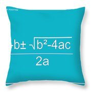 Quadratic Equation Aqua-white Throw Pillow