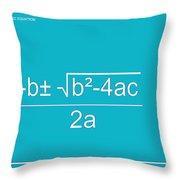 Quadratic Equation Aqua-white Throw Pillow