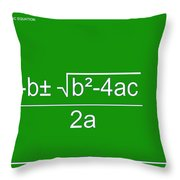 Quadratic Equation Green-white Throw Pillow