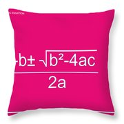 Quadratic Equation Throw Pillow