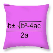 Quadratic Equation Pink-black Throw Pillow