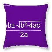 Quadratic Equation Violet-white Throw Pillow