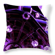 Quadrent Purple Throw Pillow