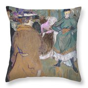 Quadrille At The Moulin Rouge, 1892 Throw Pillow